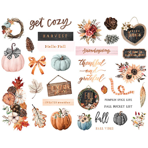 Чипборд от Prima Marketing Коллекция Pumpkin and Spice Ephemera. Арт 647810