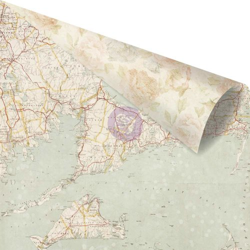 Prima Marketing St. Tropez Collection - 12 x 12 Double Sided Paper - French Sands with Foil Accents