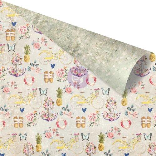 Prima Marketing St. Tropez Collection - 12 x 12 Double Sided Paper  Plage de la Bouillabaise with Foil