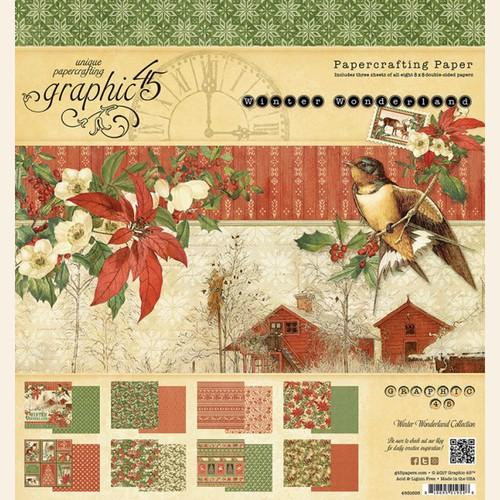 Набор бумаги Winter Wonderland 12x12 Pad Graphic 45