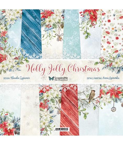 Набор бумаги 12х12 Holly Jolly Christmas от ScrapAndMe