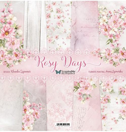Набор бумаги 12х12 Rosy Days от ScrapAndMe